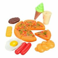 1X(13pcs Funny Kids Plastic Pizza Cola Ice Cream Food Kitchen Role Play Toy GN8