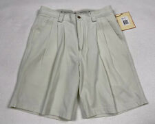 Tommy Bahama Shorts 30 Off White Schooner Pleated Tencel Blend New