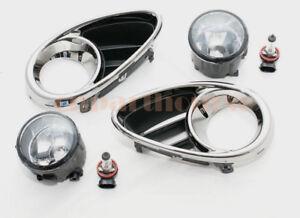 For Infiniti Qx 70 Fx 30d 35 37 50 09-15 Front Chrome Bezels with Fog Lights set
