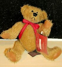 """Mint Crabtree & Evelyn Russ Mohair Bear """"Cyrus"""" Limited Ed ~ Jointed ~ Tags Coa"""