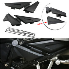 Black Side Frame Panel Guard Protector Cover For BMW R1200GS LC Adv 2014-2018