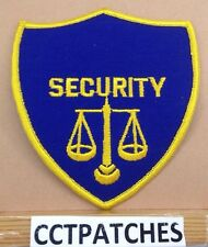 SECURITY SCALE OF JUSTICE SHOULDER PATCH