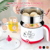 2 Layer Multifunctional Boiler Steamer Cooker Electric Cooking Machine Fry Pan