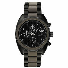 Emporio Armani AR5953 Sportivo Black Strap Chronograph Mens Watch