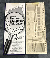 Stamps Perforation Multi Measuring Gauge Precision US Specialty 11 in 1 GO no GO