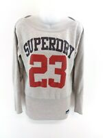 SUPERDRY Womens Jumper Sweater S Small Grey Cotton