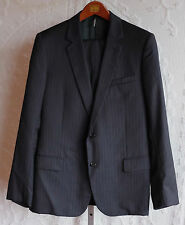 New sz 52 R / US 42 Dior Homme black pinstripe suit jacket pants