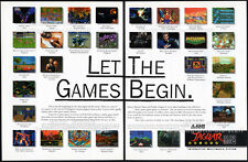 Atari JAGUAR 64-bit__Let The Games Begin__Original 1994 print AD / game promo