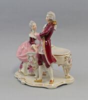 9959480 Porzellan Figur Rokoko Paar am Klavier Ens 24x16x25cm