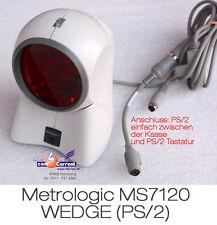 Pos caja escáner de código de barras metrologic órbita ms7120 kassenscanner ms-7120 ps/2 bs23