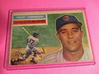 1956 Topps #230 Chico Carrasquel - Indians - G  to VG