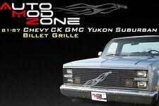 81-87 Chevy GMC Fullsize Van Billet Grille Grill Show Lights Replacement Insert