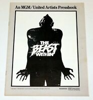 THE BEAST WITHIN MGM United Artists Horror Movie Pressbook 1983 Vintage Original