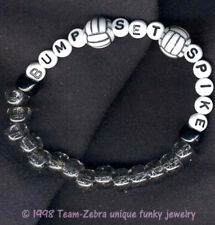 Funky BUMP-SET-SPIKE BRACELET Volleyball Player Team Sports Gift Costume Jewelry