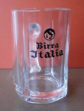 "BIRRA ITALIA ""LA PREFERITA"" BOCCALE VETRO 33 CL VINTAGE BEER GLASS VERRE BIERE"