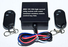 12V 315mhz 30A on off remote control relay switch with 2 water resistant key fob