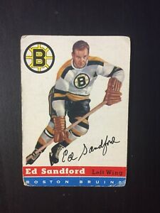Ed Sandford 1954-55 Topps #48 Boston Bruins Eddie