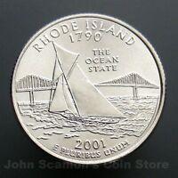 2001-D Rhode Island State Quarter 25c US Mint Coin Choice BU