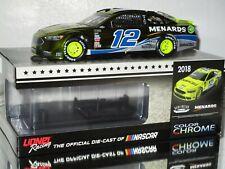 2018 Ryan Blaney #12 MENARDS DARLINGTON COLOR CHROME 1/24 car#77/108 WOW RARE