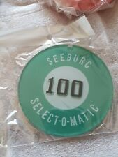 SEEBURG JUKEBOX,  L100,  100 PLAY PLASTIC LOGO, ONE PAIR