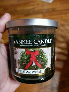 Yankee Candle Dark Green CHRISTMAS WREATH 7 oz. Unburned