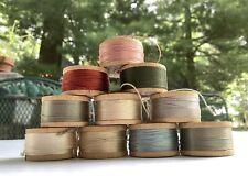 Vintage Lot of 10~Silk Twist~Belding Corticelli Button Hole Thread~Multi Color