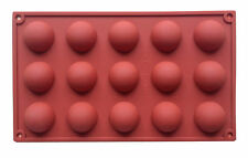 1 x Dome Half Sphere Ball Silicone Mould Baking Chocolate Candy Jelly 15 Cavity