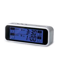 Ultmost Talking Dual-Time Travel Alarm Clock, English