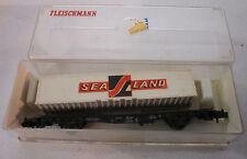 Fleischmann Containertragwagen SEA LAND Spur N Eisenbahn OVP 1:160 Modeltrain