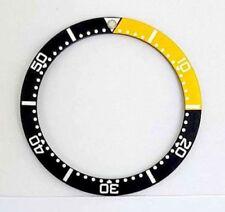1/4 Yellow & Black Bezel Insert to fit Seiko 6309, 7002 & SKX007