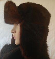 "real fur   Mink  Russian""Ushanka"" Hat Men's Size 7 22,5 """