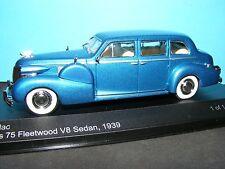 Cadillac Series 75 Fleetwood V8 Sedan 1939 Metallic Blue 1:43 Scale New Whitebox