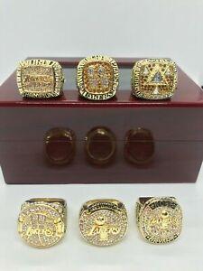 6 Pcs Kobe Bryant Los Angeles Lakers Championship Ring set With Box