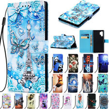 For Samsung Galaxy S9 S10 Note 10 Pro Pattern Wallet Flip Stand Phone Case Cover
