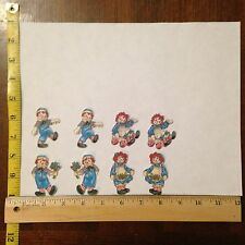 8pc Raggedy Ann and Andy Fabric Applique Iron On