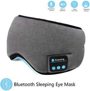 Wireless Bluetooth Stereo Built-in Headphones Sleep Earphone Eye Mask Headset