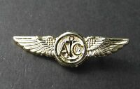 USN US NAVY AIR CREW GOLD COLORED WINGS PIN BADGE 1.5 INCHES