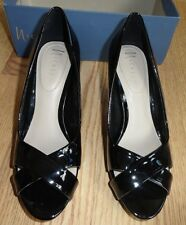 Nickels Jay Black Womens Pump High Heel Pump Dress Open Peep Toe Shoe 7 $60