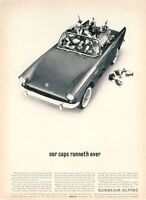 "1962 Sunbeam PRINT AD Alpine Convertible 2 Door ""Our Cup Runneth over"""