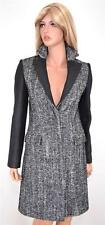 NEW KAREN MILLEN CR020 TAILORED TWEED WOOL BLEND HERRINGBONE MULTI COAT~6 10 38