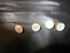 Pair of Pearlised or Pearlized Cufflinks Pat Dates Reverse 1908/1919 or Studs(?)