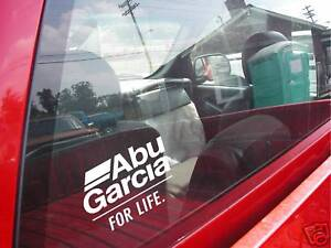 ABU GARCIA FOR LIFE decal reel bass boat windshield