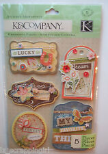 ~EDAMAME STITCHED ADORNMENTS~ Grand Adhesions Stickers K & CO Company; FAMILY