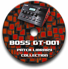 Boss gt-001 Pre-Programmed Tone Patchs CD-Over 5,500! Guitar Effects Pedals