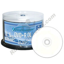 50 OQ 8x 8.5GB DVD+R DL Double Layer Water Resistant White Inkjet OQPDPRDL08WIP