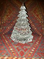 "Superb WATERFORD Clear CRYSTAL SCULPTURE 6.5"" Full CHRISTMAS TREE FIGURINE 3 lb"