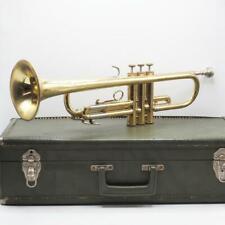 Vintage Frank Holton Trumpet Elkhorn WI w/ Original Case For Restoration
