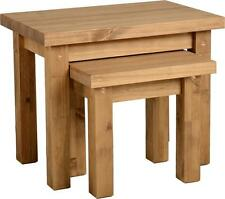 Seconique Tortilla Nest of 2 Tables in Distressed Waxed Pine – Delivery