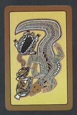 #930.501 vintage swap card -NEAR MINT- Australian Animals, Aboriginal dot paint