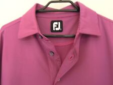 FJ  FOOTJOY   Men's GOLF TOP   *Size SMALL    Purple / Black Fine Stripe
